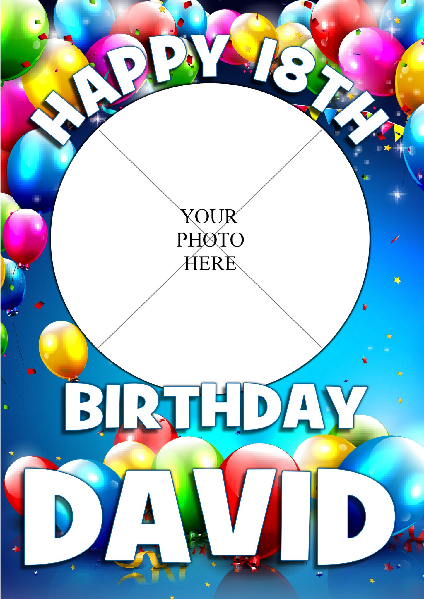 Personalised Birthday Balloons Party PHOTO Banner Poster N165 Girls Boys